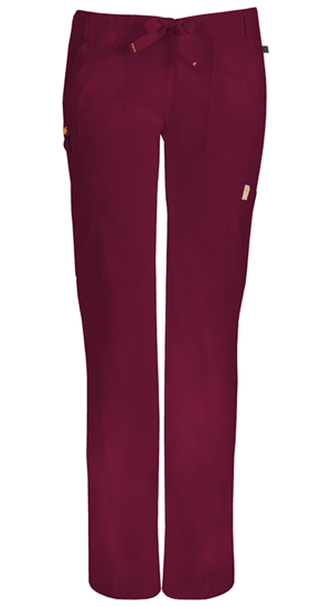 Code Happy Bliss Low Rise Straight Leg Drawstring Pant in Wine (46000A - WICH)