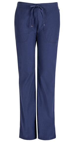 Code Happy Bliss Mid Rise Moderate Flare Drawstring Pant in Navy (46002ABP - NVCH)