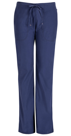 Code Happy Bliss Mid Rise Moderate Flare Drawstring Pant in Navy (46002ABT - NVCH)