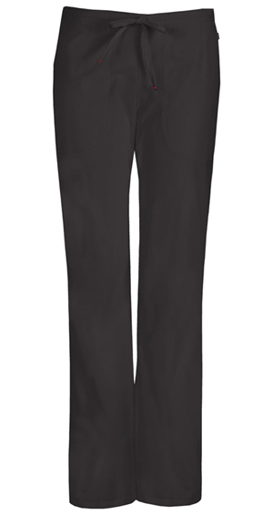 Code Happy Bliss Mid Rise Moderate Flare Drawstring Pant in Black (46002AP - BXCH)