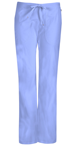 Code Happy Bliss Mid Rise Moderate Flare Drawstring Pant in Ciel (46002AP - CLCH)