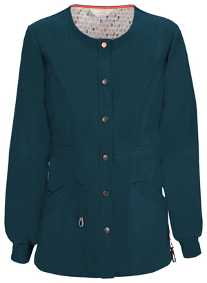 Code Happy Bliss Snap Front Warm-up Jacket in Caribbean Blue (46300A - CACH)