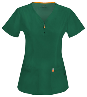 Code Happy Bliss V-Neck Top in Hunter Green (46600A - HNCH)