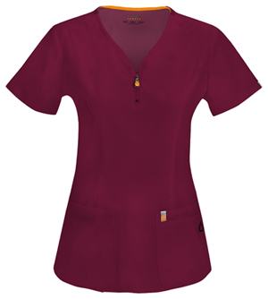 Code Happy Bliss V-Neck Top in Wine (46600A - WICH)
