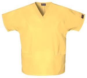 Cherokee Workwear WW Originals Women's V-Neck Top Yellow
