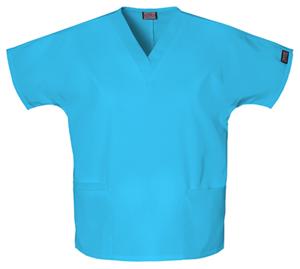 Cherokee Workwear WW Originals Women's V-Neck Top Blue