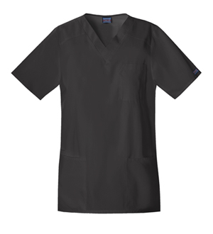 Cherokee Workwear WW Originals Unisex Tall Unisex V-Neck Top Black