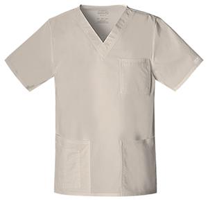 Cherokee Workwear WW Premium Unisex Unisex V-Neck Top Khaki
