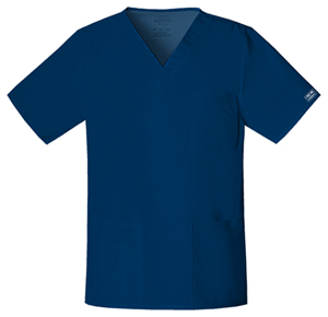 Cherokee Workwear WW Premium Unisex Unisex V-Neck Top Blue