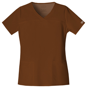 WW Premium Women's V-Neck Top Brown