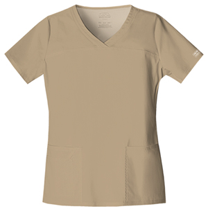 Cherokee Workwear V-Neck Top Dark Khaki (4727-DKAW)