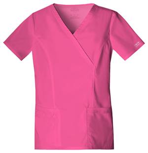 WW Premium Women's Mock Wrap Top Pink