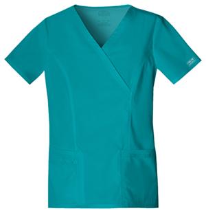 Cherokee Workwear WW Premium Women's Mock Wrap Top Green