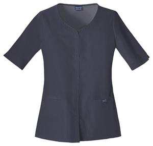WW Originals Women's Button Front Top Grey