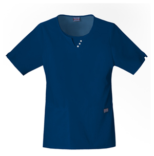 Cherokee Workwear WW Originals Women's Round Neck Top Blue