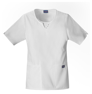 Cherokee Workwear WW Originals Women's Round Neck Top White