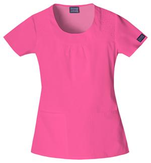 Cherokee Workwear WW Originals Women's Round Neck Top Pink