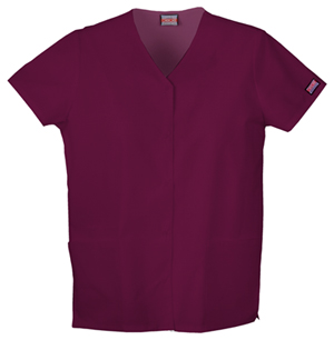 WW Originals Women's Snap Front V-Neck Top Purple