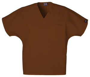 Cherokee Workwear WW Originals Unisex Unisex V-Neck Tunic Brown