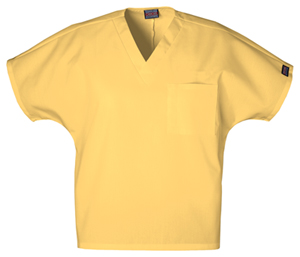 Cherokee Workwear WW Originals Unisex Unisex V-Neck Tunic Yellow