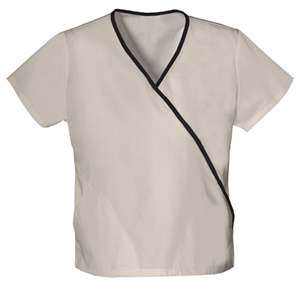 WW Originals Women's Mini Mock Wrap Top Khaki
