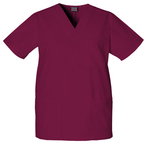 Cherokee Workwear WW Originals Unisex Unisex V-Neck Top Purple