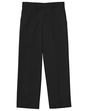 Classroom Uniforms Classroom Boy's Boys Slim Adj. Waist Flat Front Pant Black
