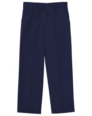 Classroom Boy's Boys Slim Adj. Waist Flat Front Pant Blue