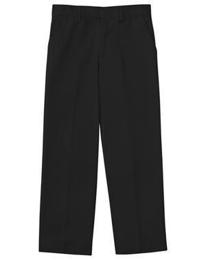 Classroom Uniforms Classroom Boy's Boys Husky Flat Front Pant Black