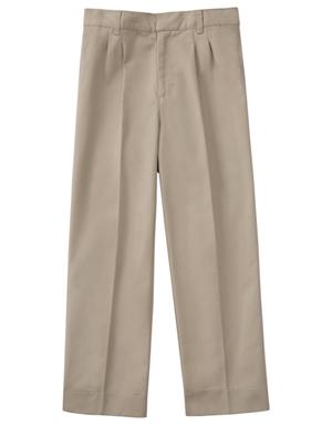 "Classroom Men's Men's Tall Pleat Front Pant 34"" Inseam Khaki"