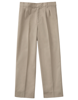 "Classroom Men's Men's Pleat Front Pant 32"" Inseam Khaki"