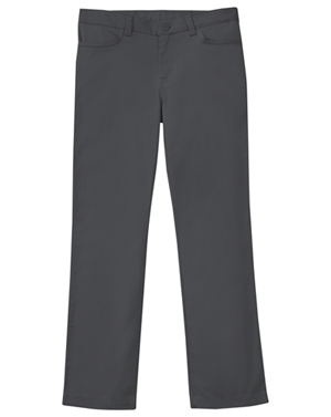 Classroom Uniforms Girls Adj. Stretch Matchstick Leg Pant Slate Gray (51282-SLATE)
