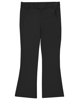 Classroom Girl's Stretch Moderate Flare Leg Pant (51322A-BLK) (51322A-BLK)