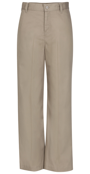 Classroom Girl's Girls Adj. Waist Flat Front Trouser Khaki