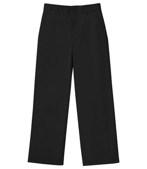 Classroom Uniforms Girls Plus Stretch Flat Front Pant Black (51943AZ-BLK)