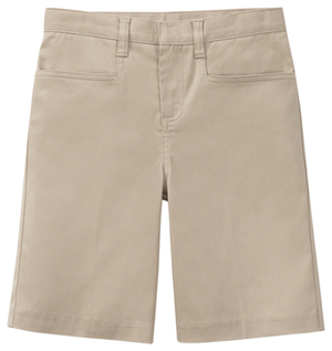 Classroom Uniforms Girls Adj. Waist Stretch Low Rise Short Khaki (52072AZ-KAK)