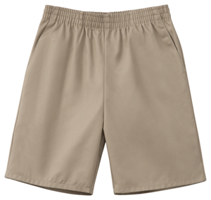 Classroom Child's Unisex Unisex Husky Pull-On Short Khaki