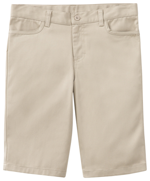 Classroom Uniforms Girls Adj. Stretch Matchstick Short Khaki (52222-KAK)