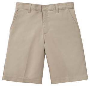 Classroom Boy's Boys Husky Flat Front Short Khaki