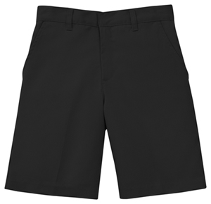 Classroom Men's Men's Flat Front Short Black