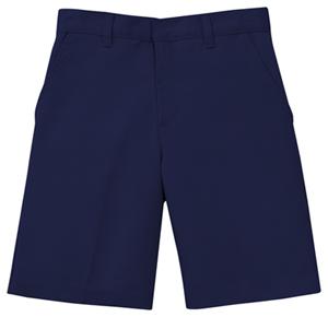 Classroom Men's Men's Flat Front Short Blue