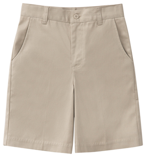 Classroom Uniforms Girls Plus Stretch Flat Front Short Khaki (52943AZ-KAK)