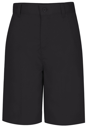 Classroom Girl's Girls Plus Flat Front Bermuda Short Black