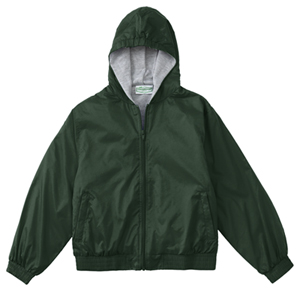 Classroom Uniforms Adult Unisex Zip Front Bomber Jacket Hunter Green (53404-HUN)