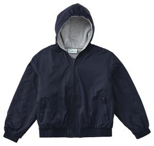 Classroom Unisex Adult Unisex Zip Front Bomber Jacket Blue