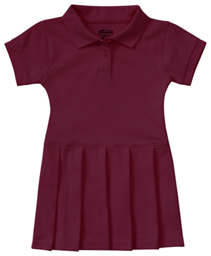 Classroom Uniforms Preschool Pique Polo Dress Burgundy (54120-BUR)
