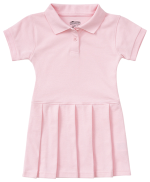 Classroom Uniforms Preschool Pique Polo Dress Pink (54120-PINK)