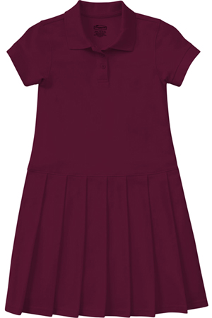 Classroom Uniforms Girls Pique Polo Dress Burgundy (54121-BUR)