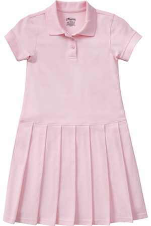 Classroom Uniforms Girl's S/S Pique Polo Dress Pink (54122-PINK)