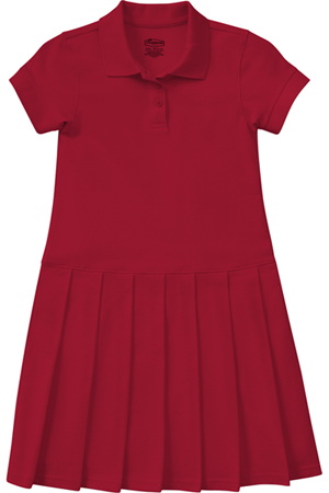 Classroom Uniforms Girls Pique Polo Dress Red (54122-RED)